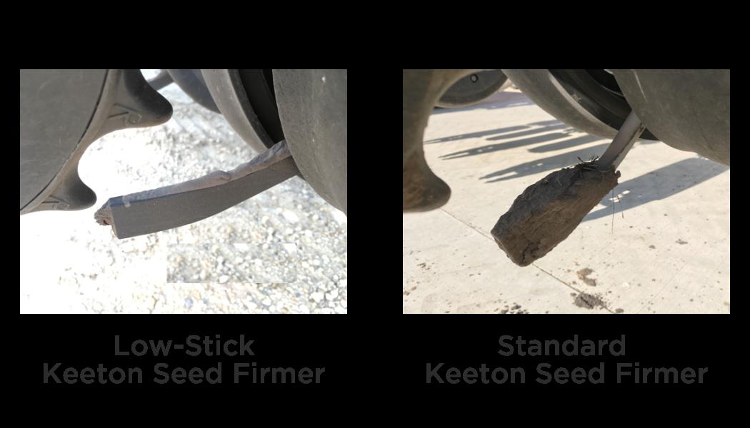 low stick keeton seed firmer sticky soil