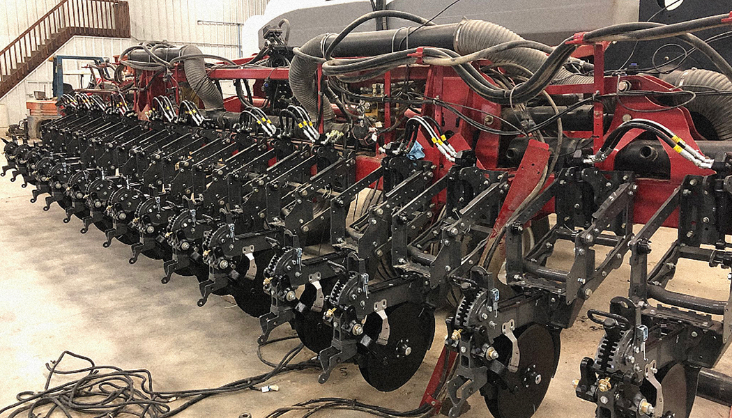 A row of Ready Row Units prepped for maintenance.